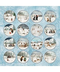 Craft&You Papier Winter Holiday 12x12'' nr. 07