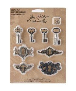 Tim Holtz Idea-Ology Locket Keys 16 pcs.
