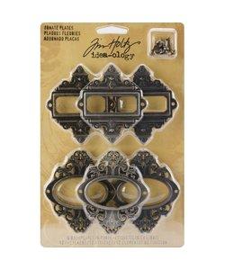 Tim Holtz Idea-Ology Ornate Plates 6 pcs.