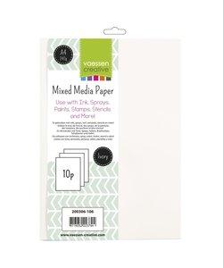 Vaessen Creative Mixed Media Paper A4, 10 st.