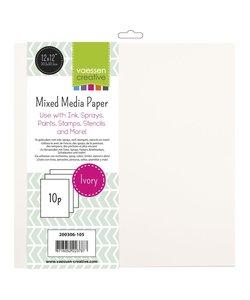 Vaessen Creative Mixed Media Paper 30.5x30.5cm., 10 st.