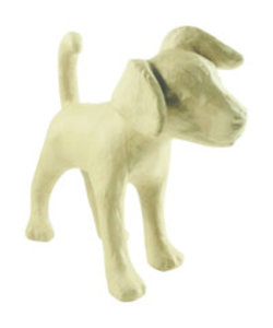Decopatch Papier Mache Hond Jack Russel 14x35x41cm