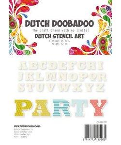 Dutch Doobadoo Snij Stencil Alfabet 4 h:12cm