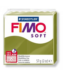 Fimo soft Boetseerklei 57gr. nr.57 Olijfgroen