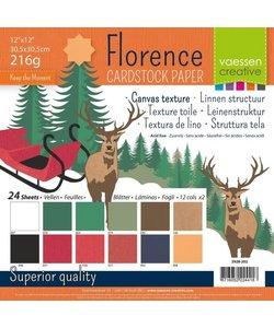Florence Cardstock KerstTexture 12x12'' 216g