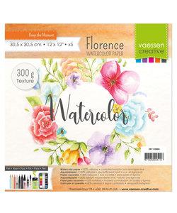 Florence Aquarel Papier Texture 30,5x30,5cm 300g. Off White5 vel