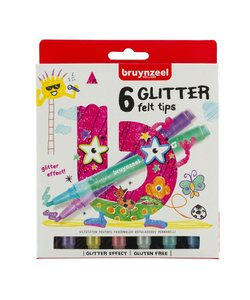 Bruynzeel Glitter Viltstiften 6st