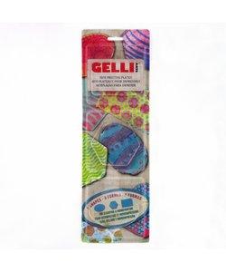 Gelli Arts Gel Printing Plate Set Rechthoek/Hexagon/Ovaal 3'' 3st