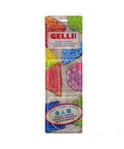 Gelli Arts Gel Printing Plate Set Vierkant/Driehoek/Rond 3'' 3st