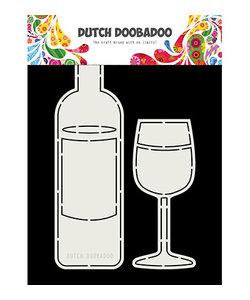 Dutch Doobadoo Card Art A5 Wijnfles en Glas, 60x205 / 55x130mm