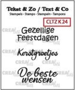 Crealies Stempel Tekst & Zo Kerst nr. 24