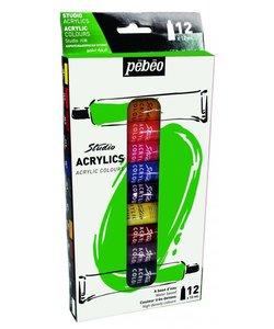Pebeo Studio Acrylic Paint Set 12x12ml