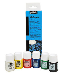 Pebeo Setacolor Opaque Suede 6x20ml Discovery Set