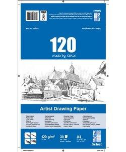 Schut Artist Drawing Paper 120 A4 30st 120g