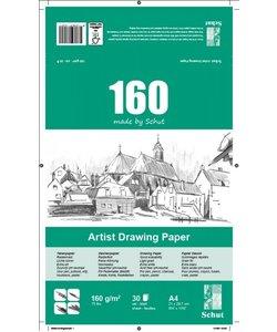 Schut Artist Drawing Paper 160 A4 30st 160g