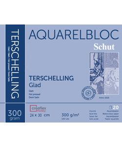 Schut Terschelling Aquarel Papier Blok Glad 300g 24x30cm