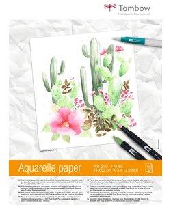Tombow Aquarel Papier 24x32cm 15st 300g