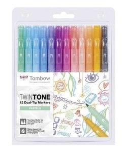 Tombow Marker TwinTone Pastels 12st