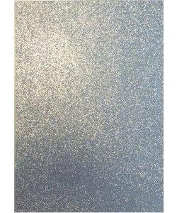 EVA Foam vellen 2mm 22x30cm Zilver glitter 5 st.