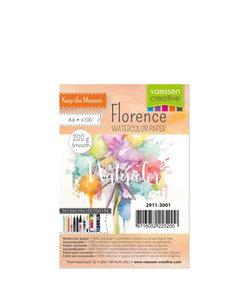 Florence Aquarel Papier Smooth A6 200g Off White100st