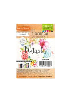 Florence Aquarel Papier Texture A6 300g Off White 20st