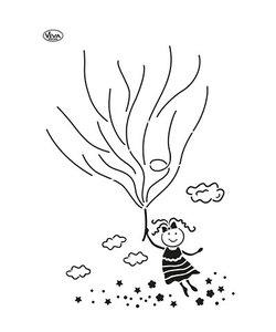 Viva Decor Blob Sjabloon Luchtballon Meisje