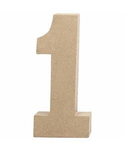 Papier Mache Cijfer 1 2,5x11,8x20,5cm