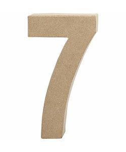 Papier Mache Cijfer 7 2,5x11,8x20,5cm