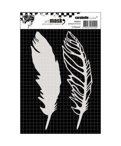 Carabelle stencil 10x14cm 2 feathers
