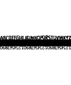 Carabelle Stencil 6 x 29 cm. Edge Letters & Cijfer