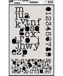 Carabelle Stencil 17,5 x 28 cm. A,B,C,D,E