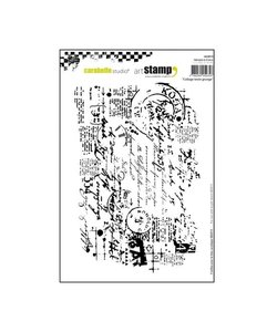 Carabelle cling stamp A6 collage text