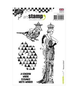 Carabelle art stamp Woman & Bird