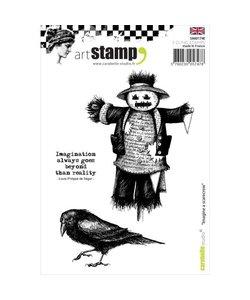 Carabelle art stamp Imagine a scarecro - vogelverschrikker met kraai