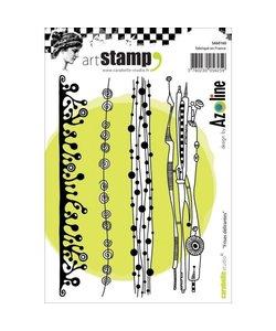 Carabelle art stamp Frises delirantes - friezen