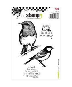 Carabelle art stamp Every bird