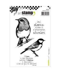 Carabelle art stamp Bird Tout oiseau vogels
