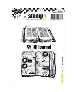 Carabelle art stamp art journal