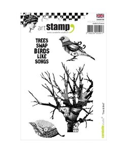 Carabelle art stamp A6 Tree and Bird