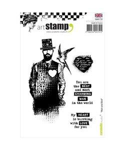 Carabelle art stamp A6 Man and Bird