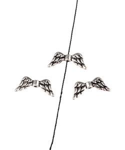 Metalen kralen vleugels 19x8mm, 10 st.