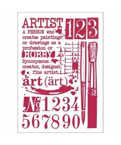 Stamperia Stencil A4 Artist