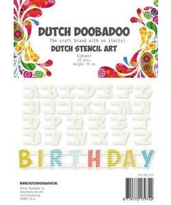 Dutch Doobadoo Snij Stencil Alfabet h:15cm