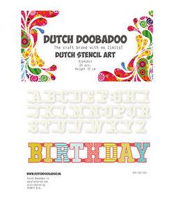 Dutch Doobadoo Snij Stencil Alfabet h:12cm