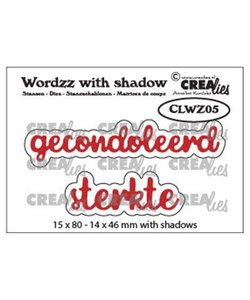 Crealies Stansmal Wordzz Gecondoleerd Sterkte nr. 05