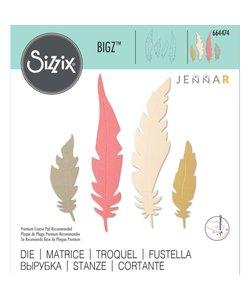 Sizzix Bigz Die Jennar Natural Feathers