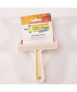 Gel Press Hard Rubber Brayer 10,16cm White