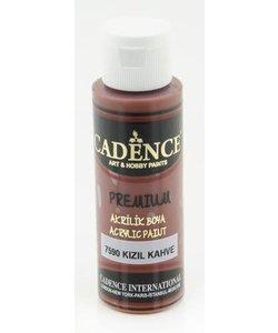 Cadence Premium Acrylverf Semi Mat 70ml Rood Bruin