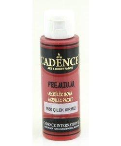 Cadence Premium Acrylverf Semi Mat 70ml Aardbei Rood