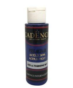 Cadence Premium Acrylverf Semi Mat 70ml Ultra Marine Blauw
